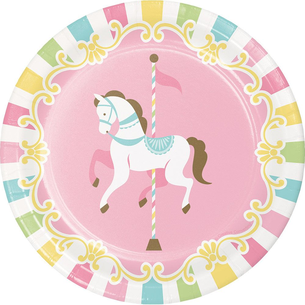 Pastel Carousel Party Plates Carousel Party Plates