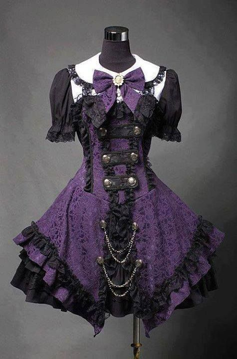 Purple And Black Lolita Outfit Fashion And Make Up Gothic Lolita