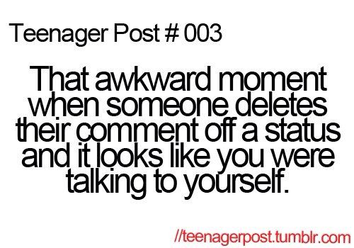 Yeah... Haha people think  weird sometimes when this happens :P