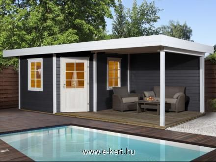 Weka wekaLine Gartenhaus Gr. 2 (2,65 x 3,2 m, Wandstärke