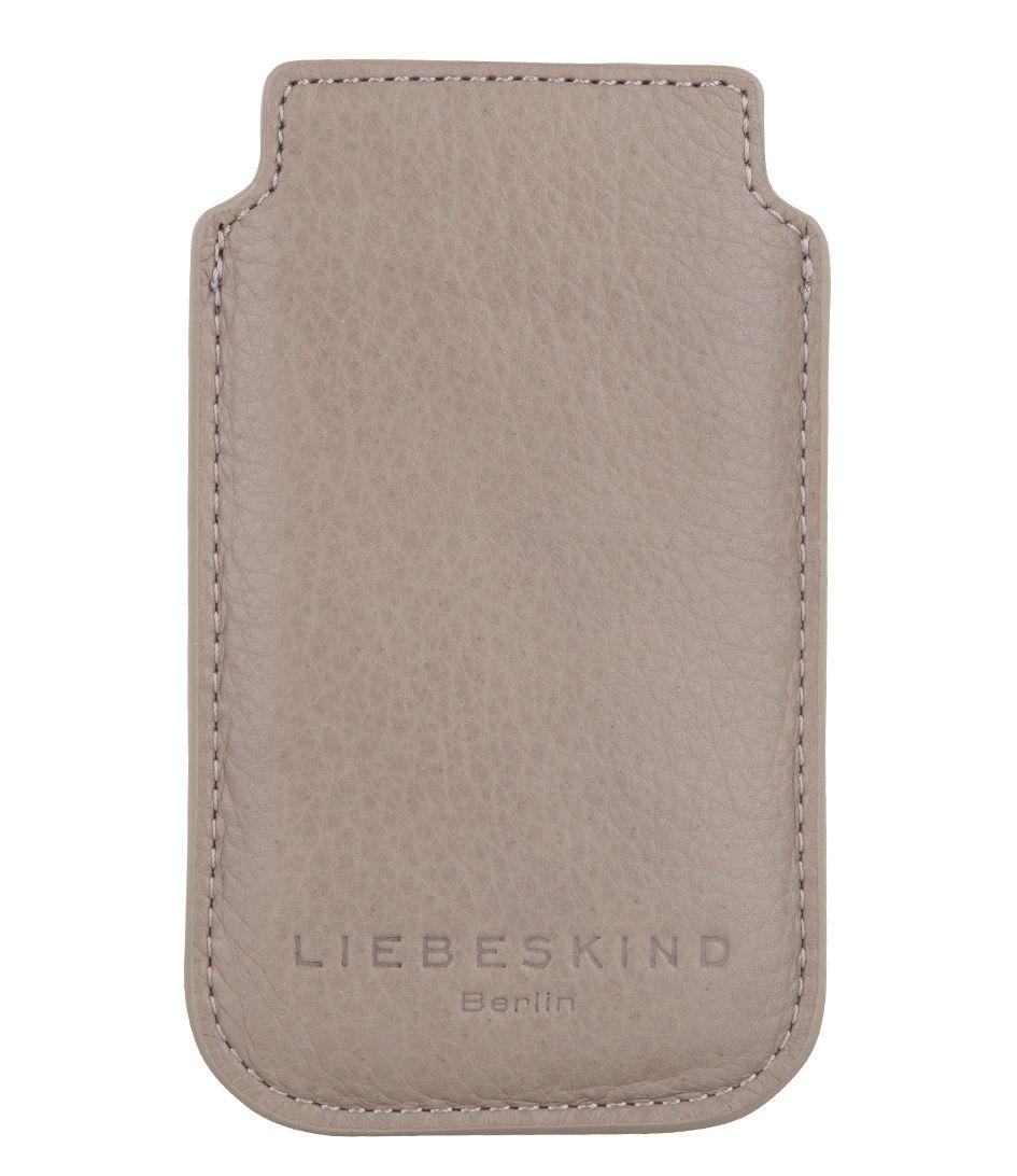 Dit is een prachtige iPhone 4 cover van beige kleurig leer van het merk Liebeskind.