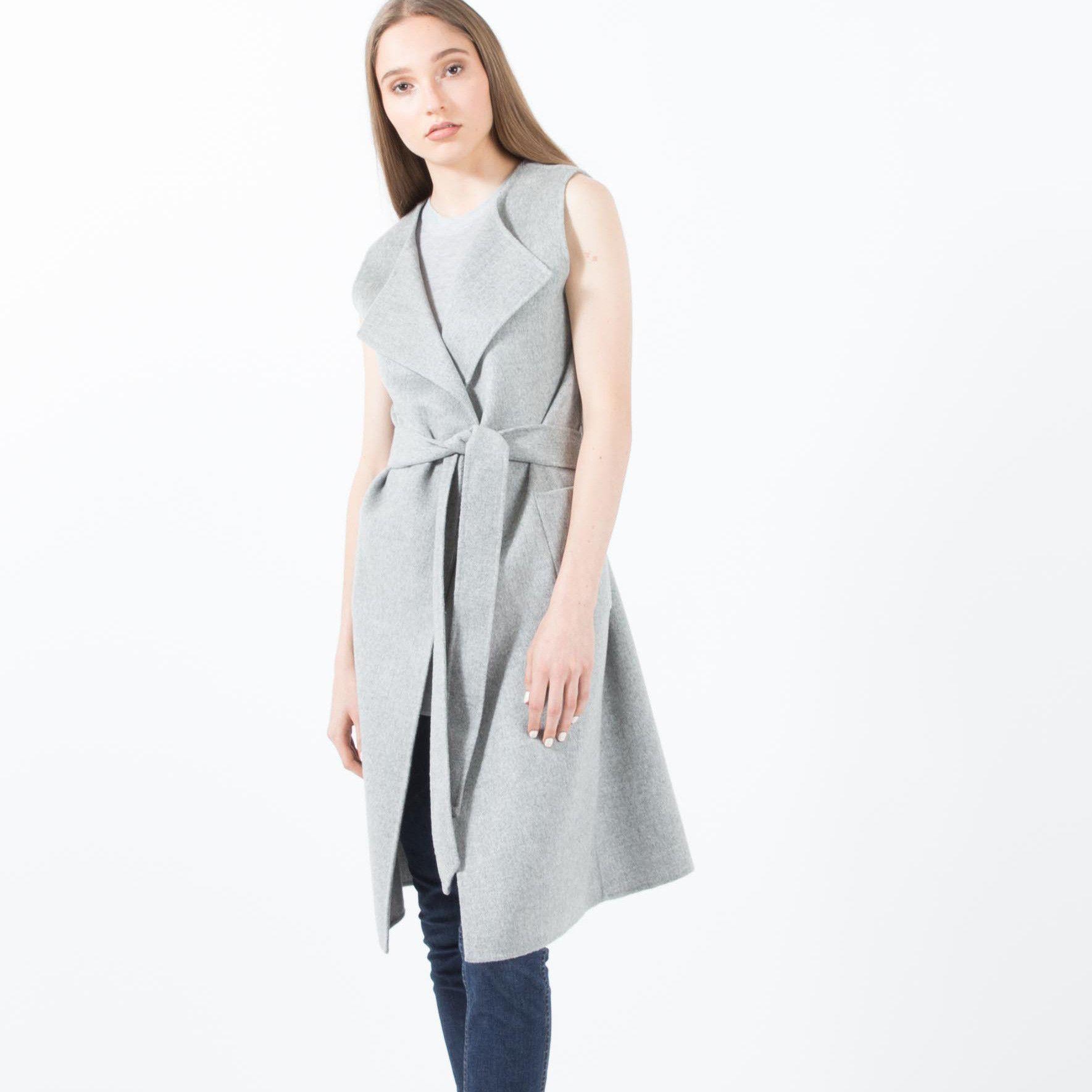Olympia Handmade Cashmere Convertible Coat (Grey) | Modern Citizen