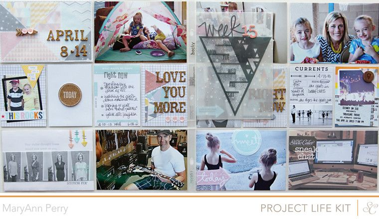 Project Life Week 15 | Triangles Weekly Challenge by MaryAnnPerry at @Studio_Calico