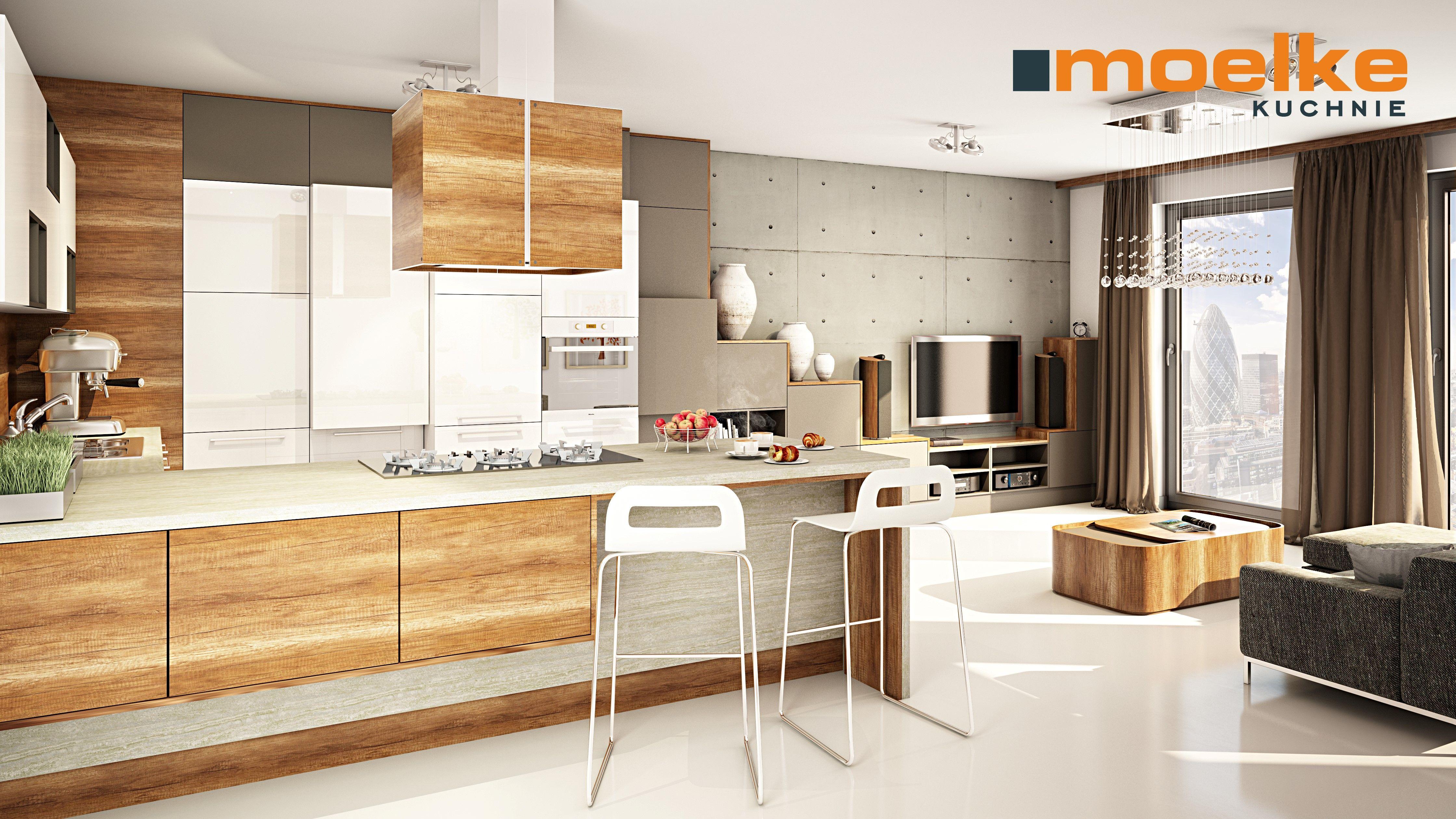 Moelkepunto Dab Country Moelkerifflesso Bialy Kompleksowe Rozwiazanie Do Duzego Pomieszczenia Kuchni Polaczonej Z Salon Kitchen Interior Home Decor Kitchen