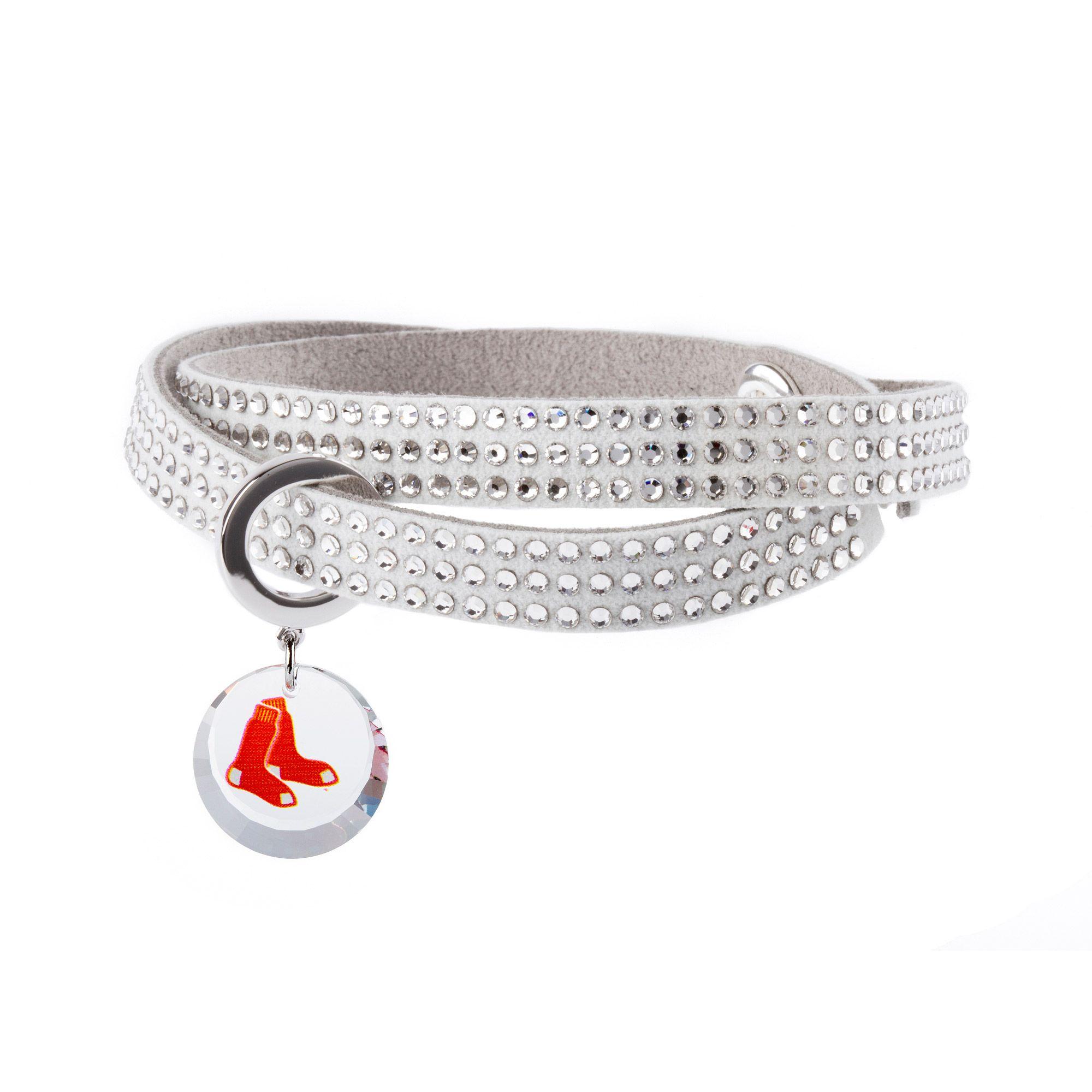 MLB Boston Red Sox Swarovski Home Run Bracelet | Boston Red Sox ...