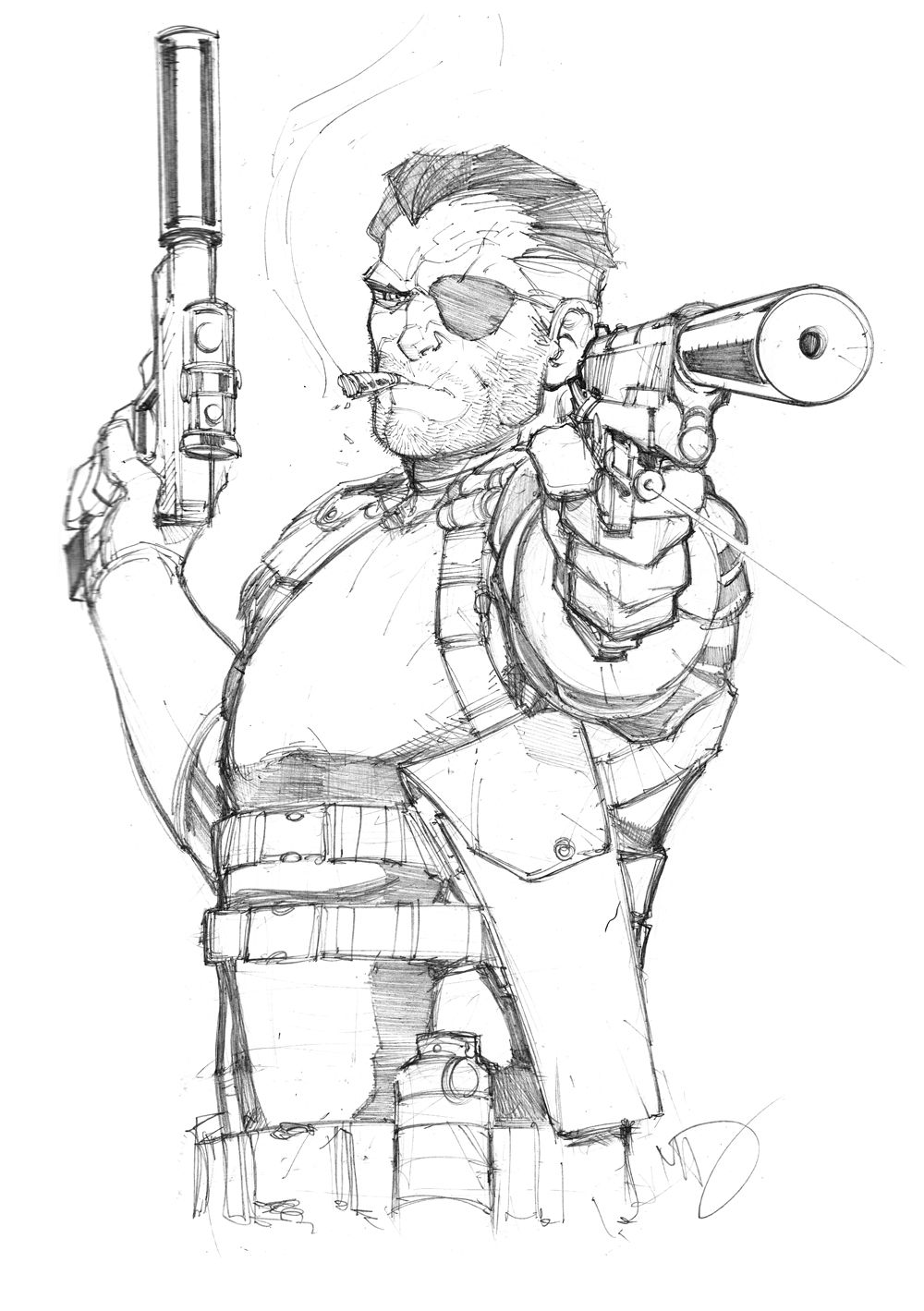 Free Nick Fury From Avengers Coloring Pages: Nick+Fury+Sketch+by+Max-Dunbar.deviantart.com+on