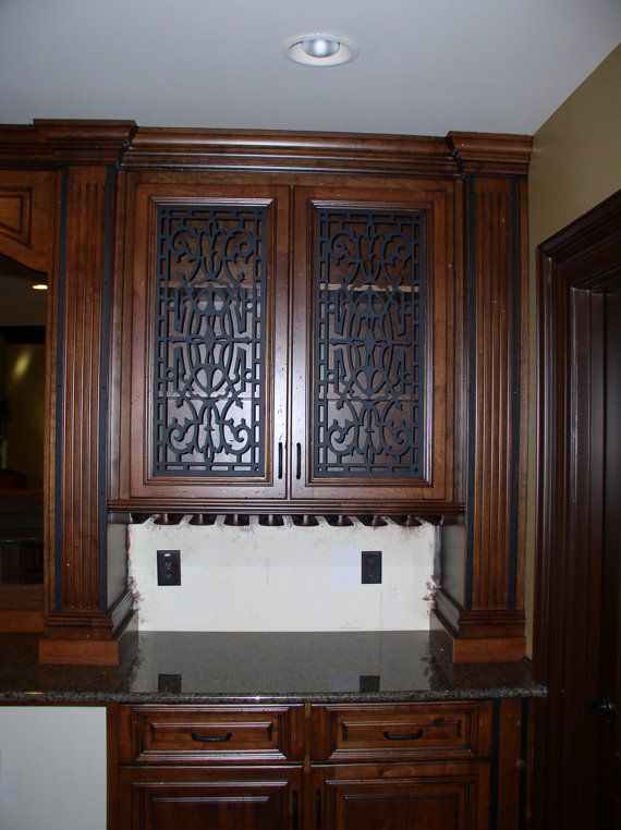 Cabinet Door Panel Insert in decorative iron. Design name Andrea ...