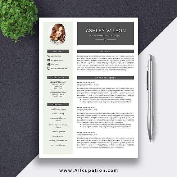 Professional Resume Template, CV Template, Cover Letter, MS Word