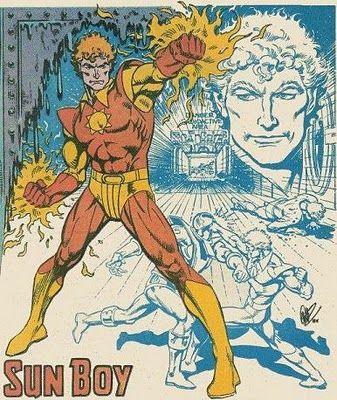 Sun Boy of the Legion of Super-Heroes. Art by Jose Luis Garcia-Lopez.