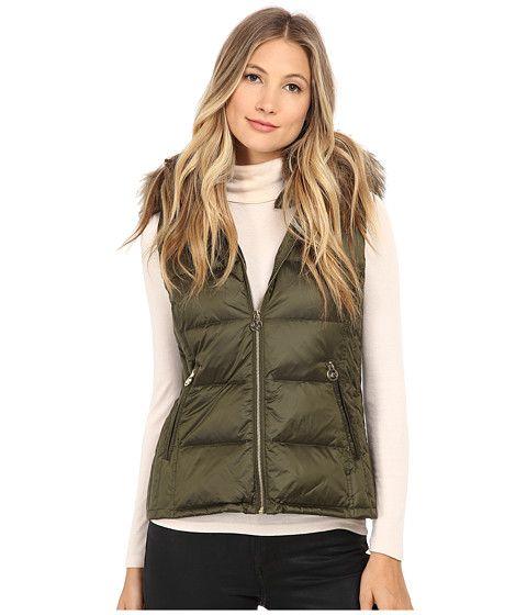 MICHAEL MICHAEL KORS Zip Front Packable Vest W/ Faux Fur. #michaelmichaelkors #cloth #coats & outerwear
