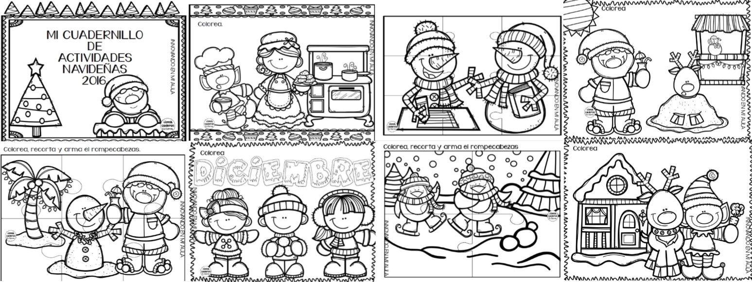 Fabuloso cuaderno de actividades navideñas para preescolar y primer ...