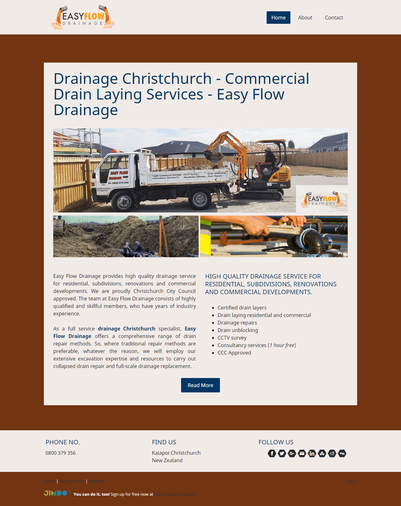 Are You Looking For High Quality Drainage Services Based In Nz We Offer All Services For Residential Subdivisions Renovat Drainage Christchurch Drain Repair