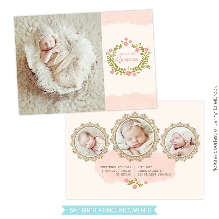 Birth Announcement  Classic Beauty  Babies
