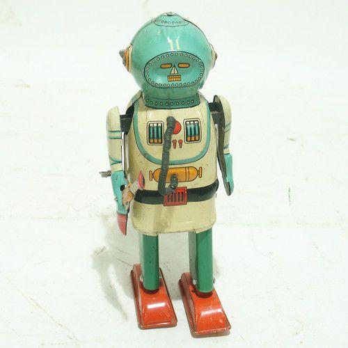 Vintage Deep Sea Diver Robot Wind Up Toy Naito Shoten Inter Planet Space Captain | eBay