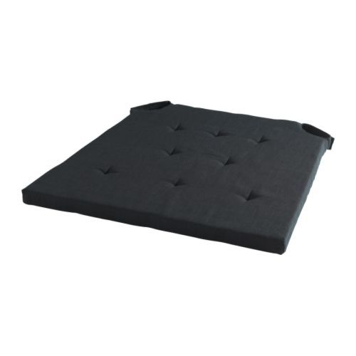 ADMETE  Chair pad, black  $14.99  The price reflects selected options  Article Number : 201.723.16  Touch-and-close fastening keeps the chair pad in place; easy to put on and remove. Read more  Size  43/36x42x2.5 cm