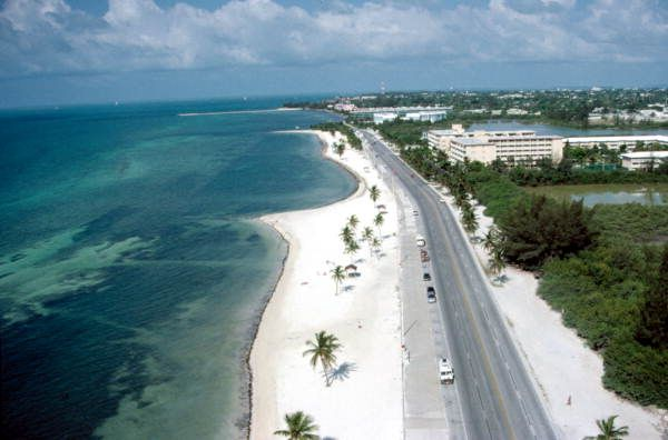 Aerial View Of Smathers Beach On South Roosevelt Boulevard Key West Florida