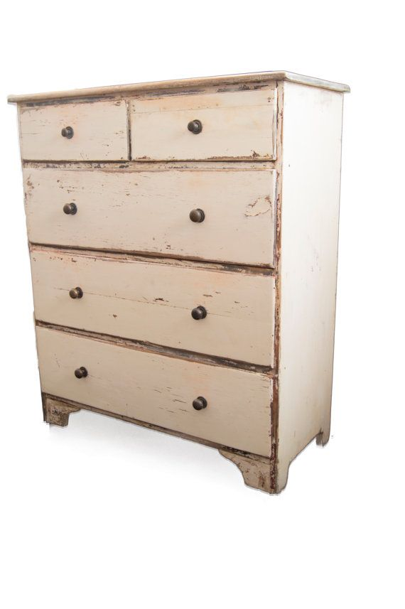 This distressed Chest of Drawers is the perfect vintage piece to add a unique flair to any room. Rustic, Chippy and built to last. Just the