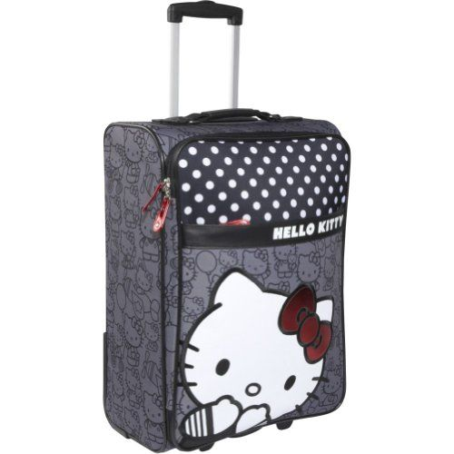 Loungefly Hello Kitty Black & White Rolling Luggage