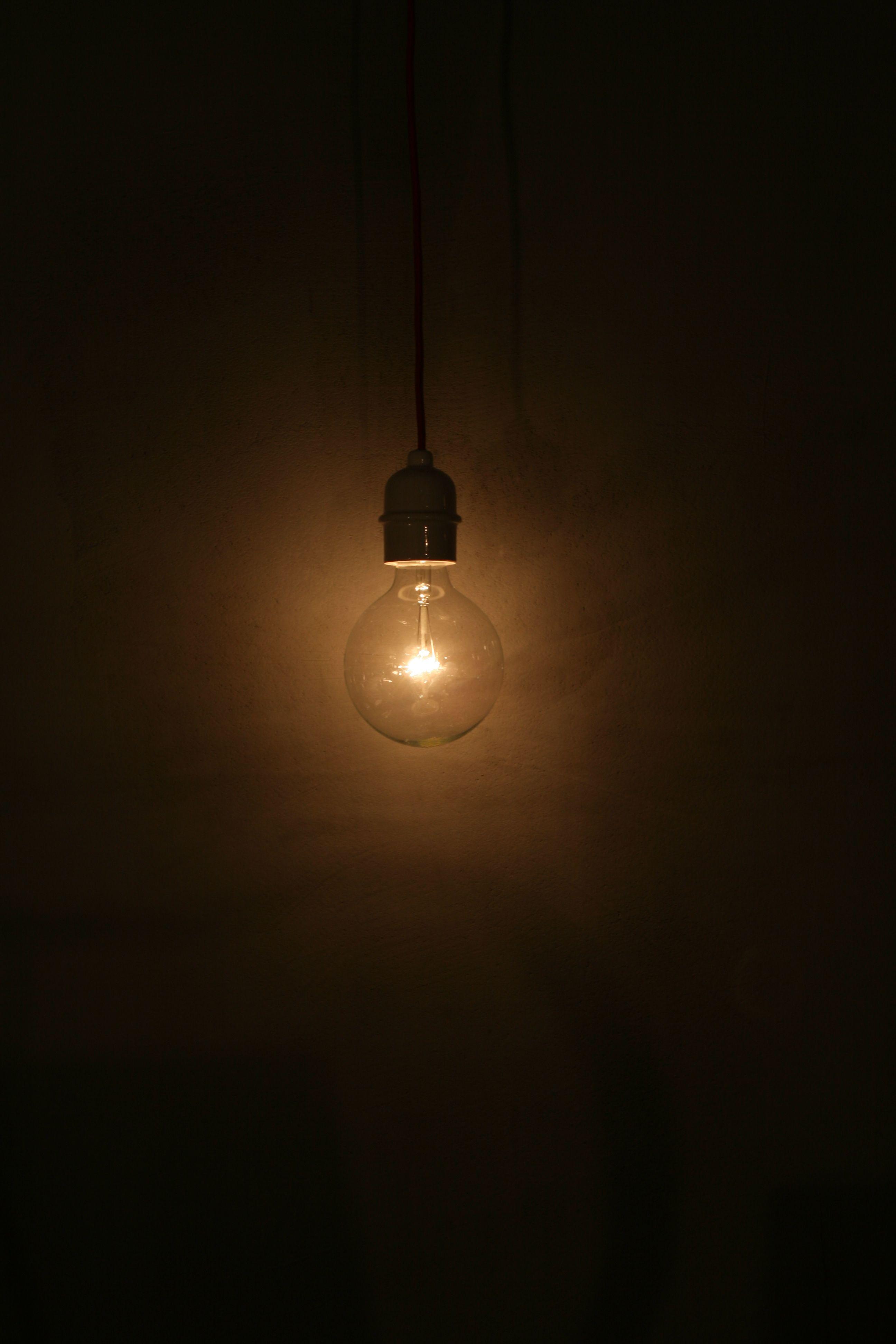 Simple Cheramic Black Lamp Dark Background Wallpaper Dark Wallpaper Black Lamps