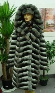 BRAND NEW RANCHED CHINCHILLA FUR COAT JACKET WOMEN|Newport-News ...