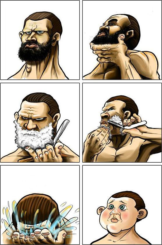 This Happens When You Shave Your Beard Xd With Images Beard