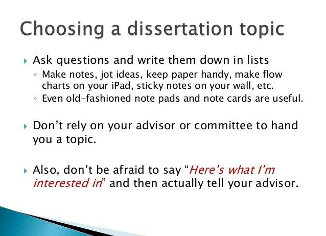 ideas for dissertation topics Family law dissertation topics & ideas  this page contains a selection of 12 dissertation topics and ideas on family law you are welcome to use these topics to help you create your own law dissertation topic.