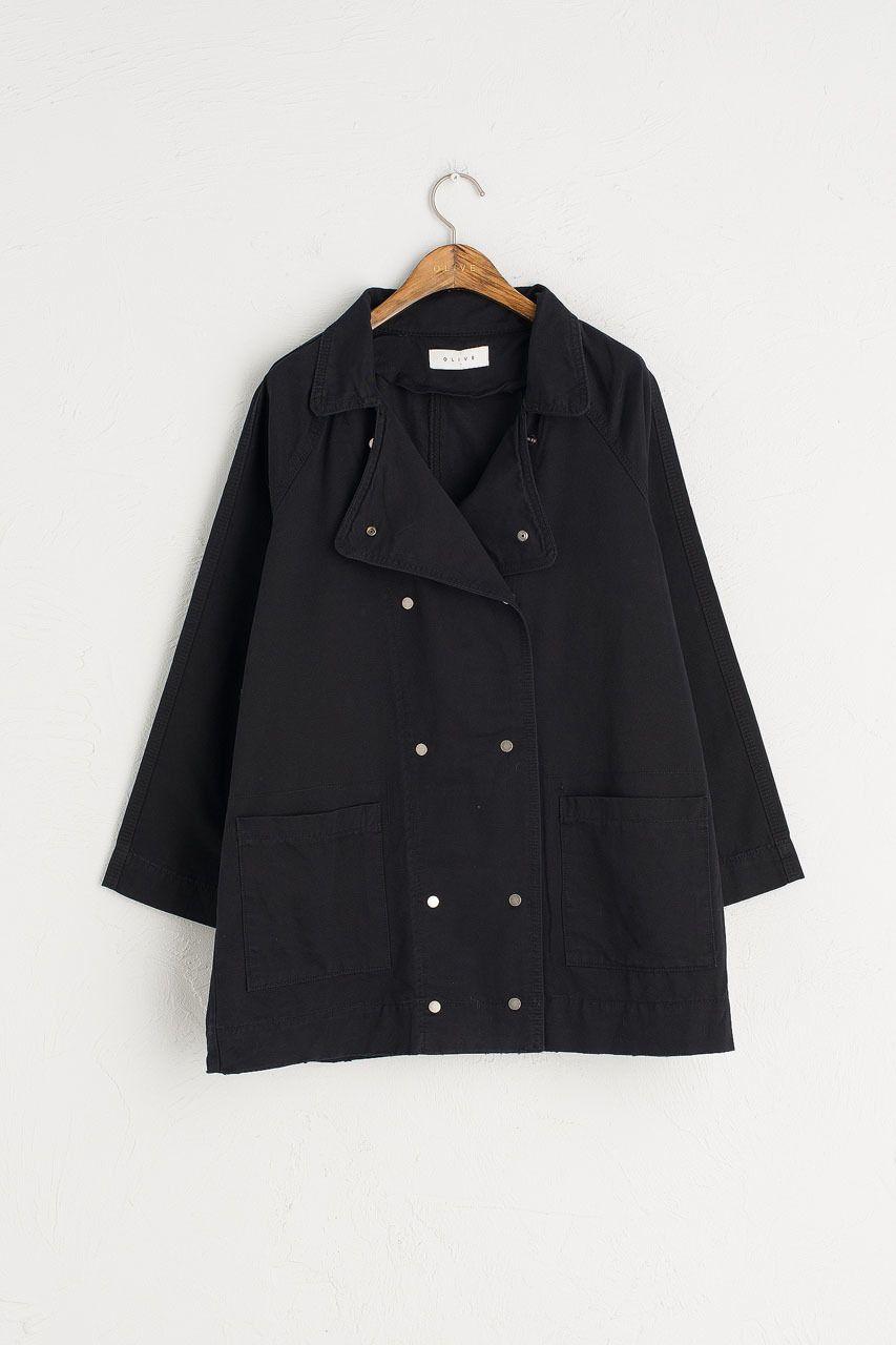 Cotton Field Jacket, Black