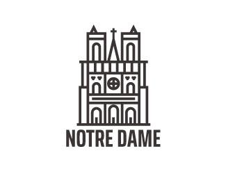 Notre Dame Notre Dame Notre Dame Logo Paris Logo
