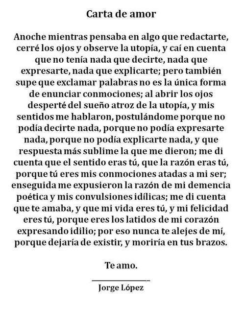 Carta De Amor Love Pinterest Love Love Quotes Y Love Phrases