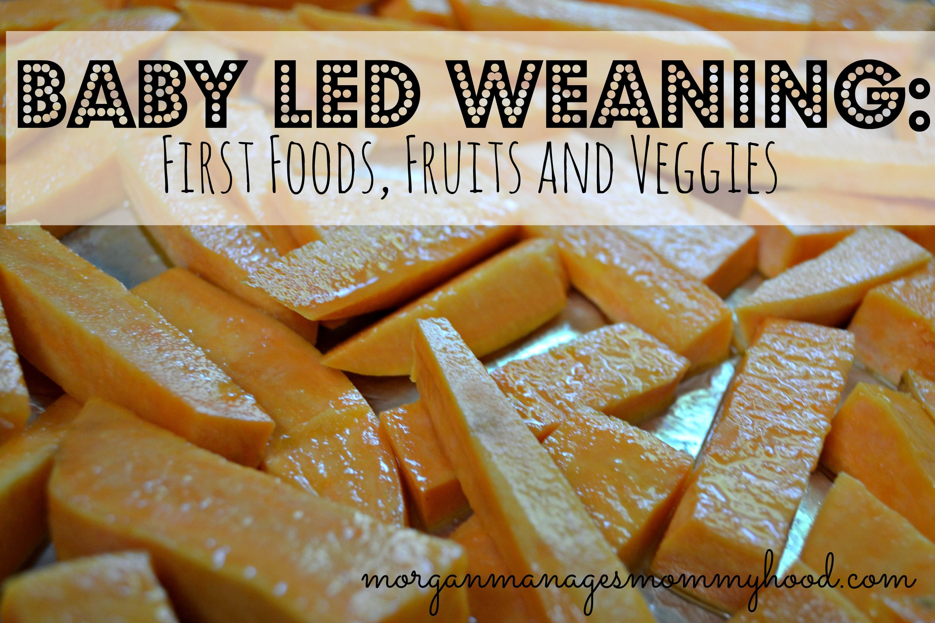 Baby Led Weaning First Fruits and Veggies - Morgan Manages Mommyhood