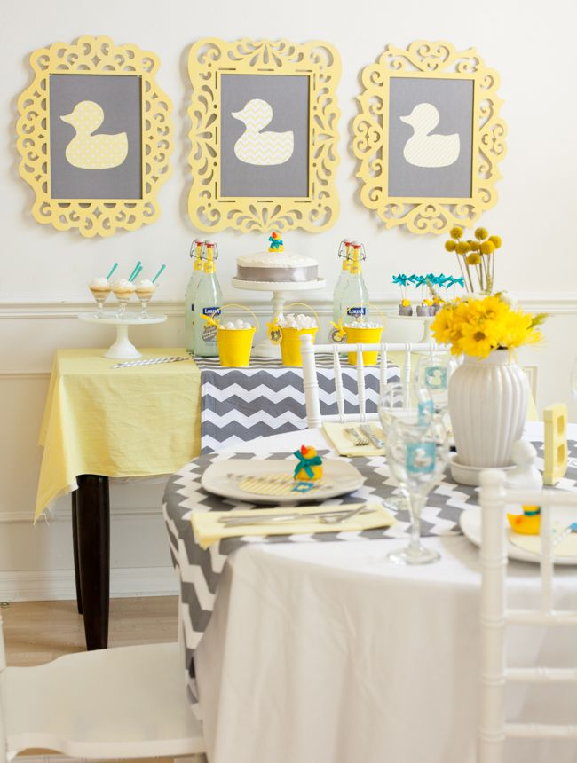 Duck Baby Shower Decorations - Frames   Duck baby showers ...