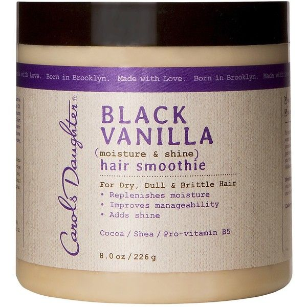 Carols Daughter Black Vanilla Moisture and Shine Hair Smoothie ($14) ❤ liked on Polyvore featuring beauty products, haircare, beauty, hair & scalp treatments, hair care, carols daughter hair care and carols daughter haircare