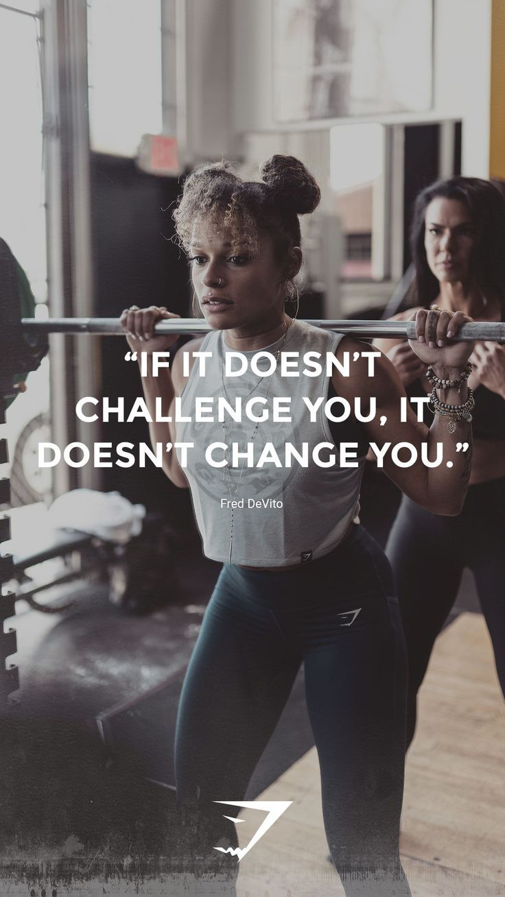 """Fitness Quotes :""""If it doesn't challenge you, it doesn't change you"""" – Fred DeVito. #Gymshark #W…"""