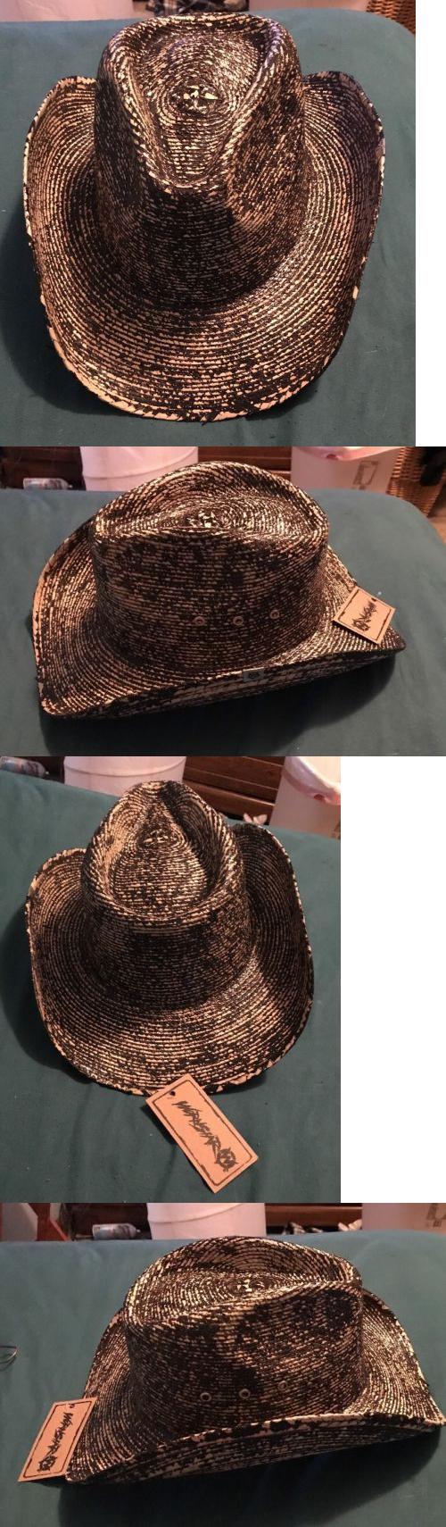 455923dea1a Hats 163543  Wornstar Hellrider Black And Natural Rocker Cowboy Hat! -  BUY  IT NOW ONLY   32 on eBay!