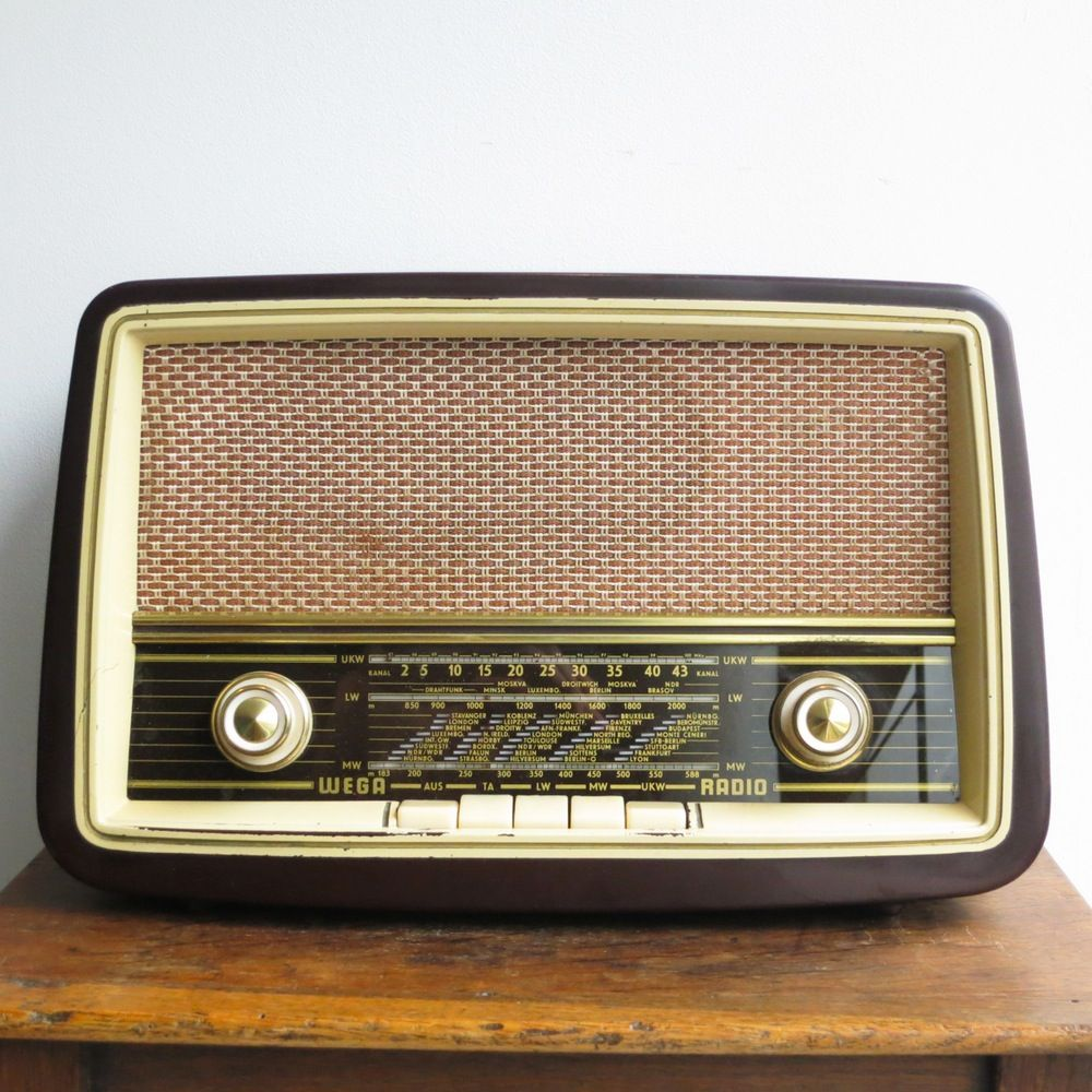 image of radio tsf vintage wega radio pour cartes. Black Bedroom Furniture Sets. Home Design Ideas