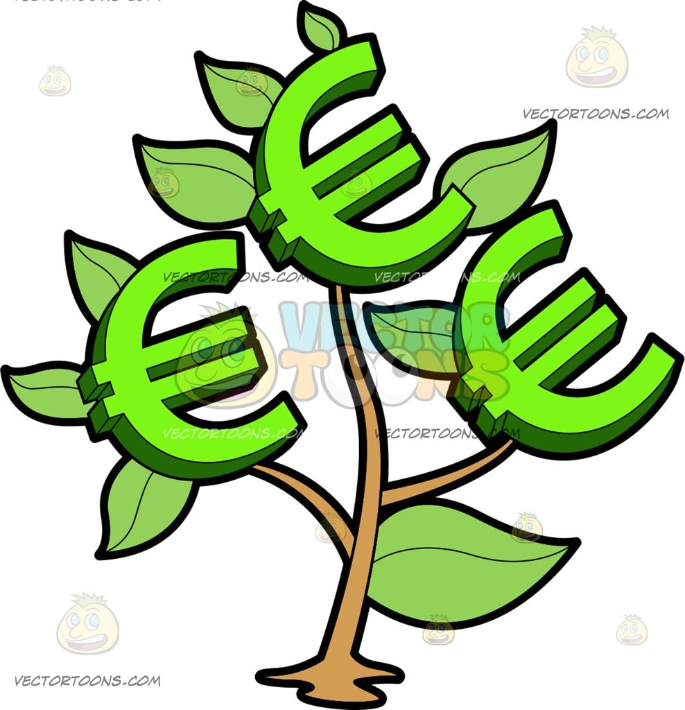 A Money Plant Bearing Euros Money Clipart Pinterest Money