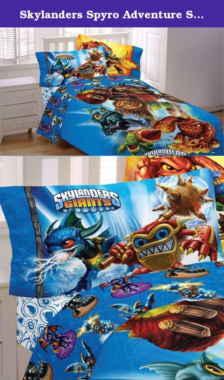 Skylanders Spyro Adventure Sky Friends 3pc Twin Bed Sheets Cotton