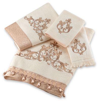 Avanti Monaco Bath Towel Collection In Ivory Towel Collection Towel White Towels