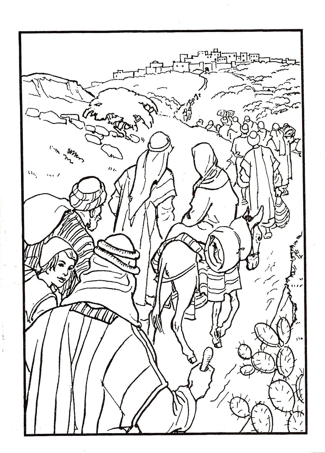 jozef en op weg naar bethlehem skanirovanie