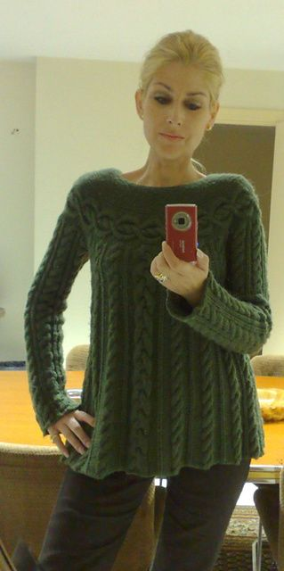 Ravelry: Cristina1961s Cable Luxe Tunic | Needle Crafts | Pinterest ...