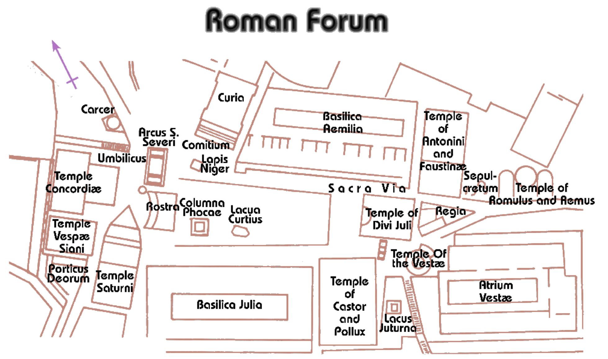 small resolution of the roman forum map ancient roman forum map roman
