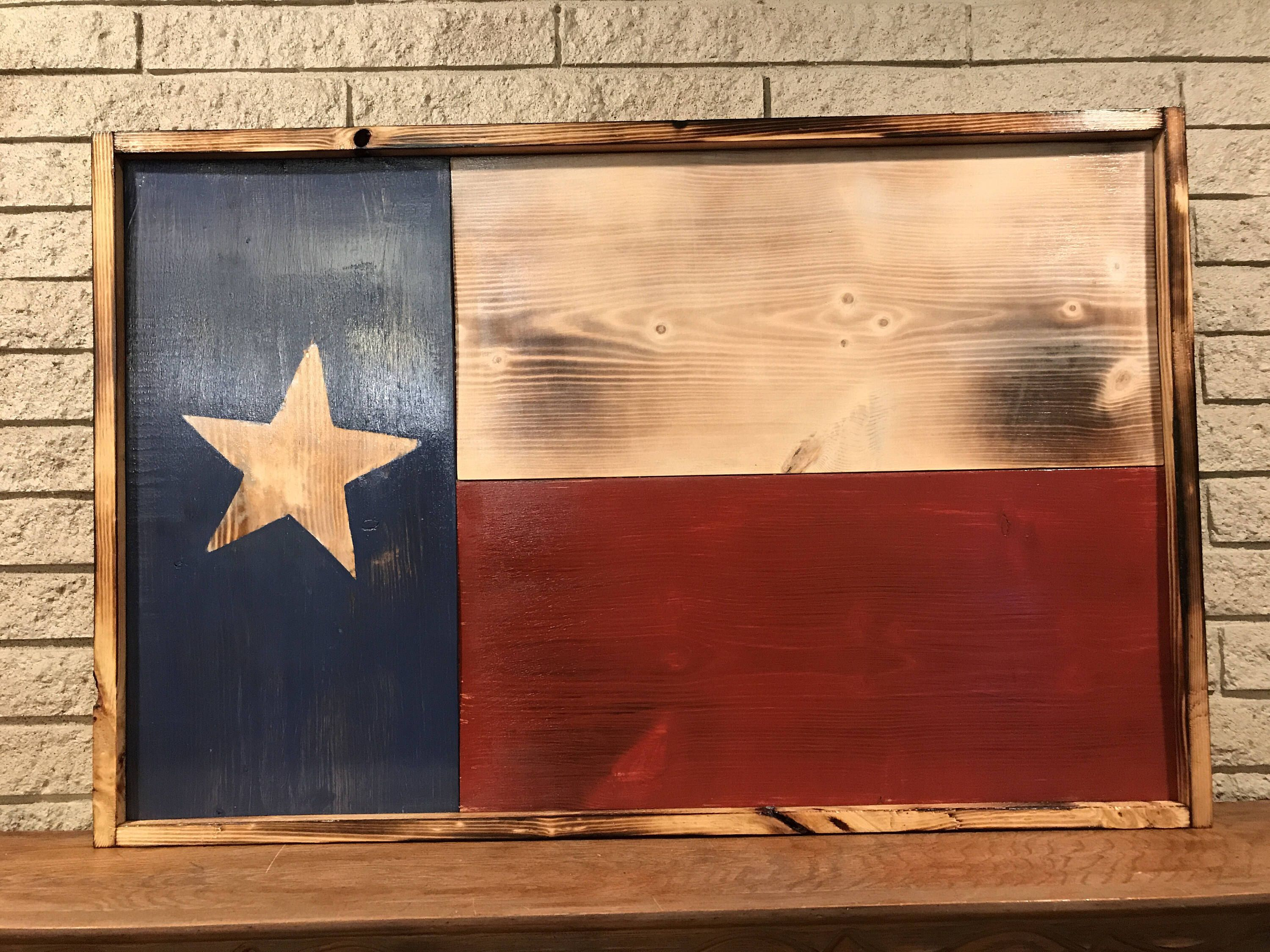 A Personal Favorite From My Etsy Shop Https Www Etsy Com Listing 558470258 Wooden Texas State Flag Texas Texas State Flag Wall Signs Decor Rustic Texas Flag
