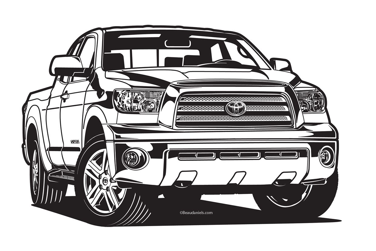 Team Toyota Illustrations On Behance Toyota Hilux Toyota
