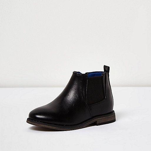 Mini boys black Chelsea boots - baby