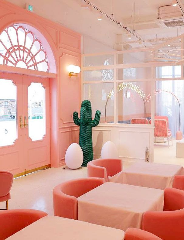 wear this there: pink pool café | Pinterest | Cafes, Interiors and ...