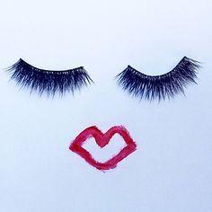 Kisses!  @vegasnay lashes and @revlon matte lip color #love #RedLipstickkBlog #Blog #BeautyBlog #Tips #Kiss