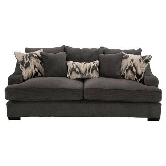 Laguna Living Room Collection Sofa In Charcoal Jerome S