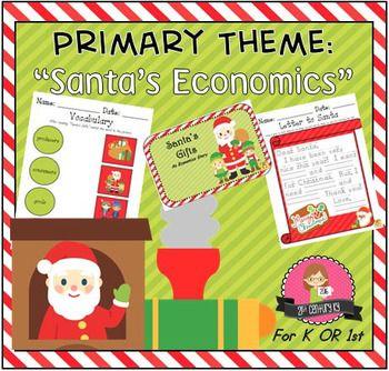 Kindergarten And First Grade Theme Santa S Economics First