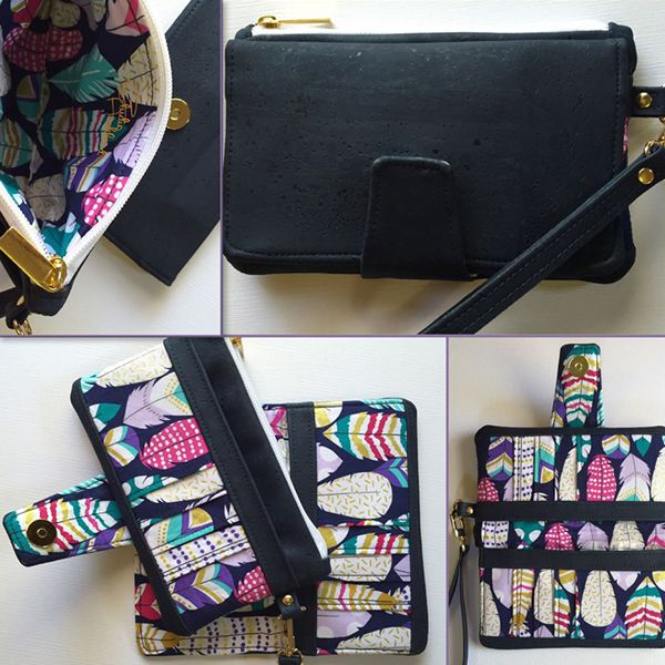 Pearl Wallet Clutch #SWN010 From Swoon Sewing Patterns | Cork Fabric ...