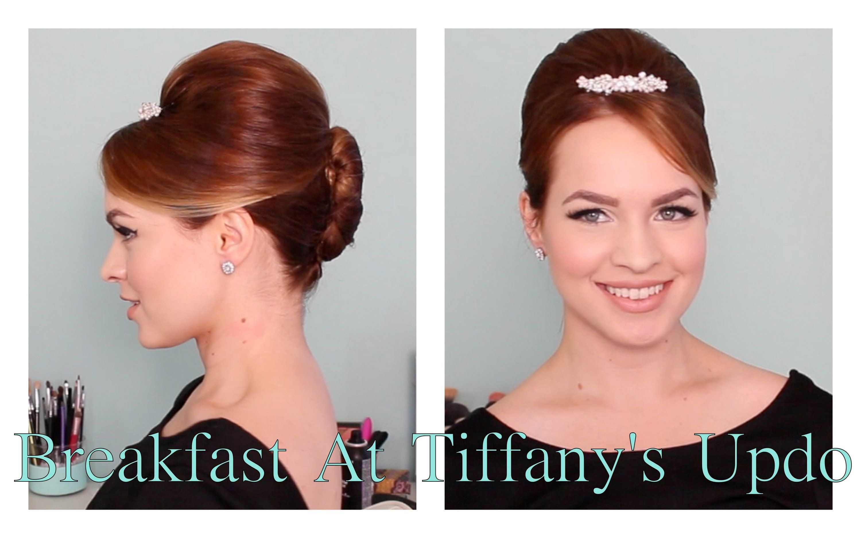 Audrey Hepburn In Breakfast At Tiffanys Updo Really Easy And Pretty